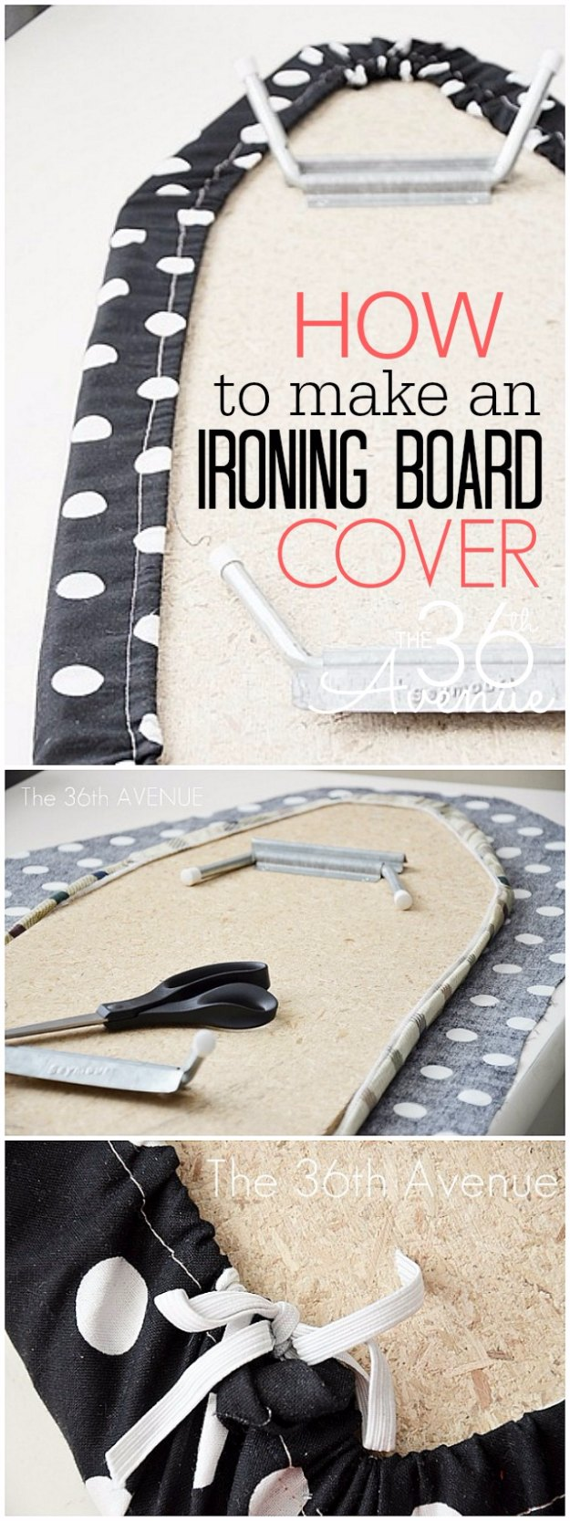 Sewing Projects for The Home - How To Make An Ironing Board Cover - Free DIY Sewing Patterns, Easy Ideas and Tutorials for Curtains, Upholstery, Napkins, Pillows and Decor #homedecor #diy #sewing