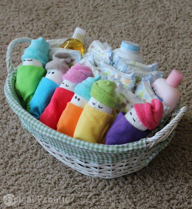Baby Gift Baskets Boots : Fabulous diy baby shower gifts joy