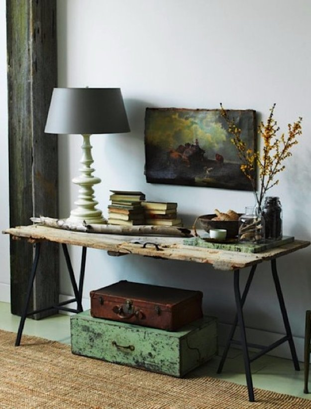 IKEA Hacks and DIY Hack Ideas for Furniture Projects  and Home Decor from IKEA -  IKEA Hack DIY Table from a Reclaimed Door - Creative IKEA Hack Tutorials for DIY Platform Bed, Desk, Vanity, Dresser, Coffee Table, Storage and Kitchen Decor http://diyjoy.com/diy-ikea-hacks