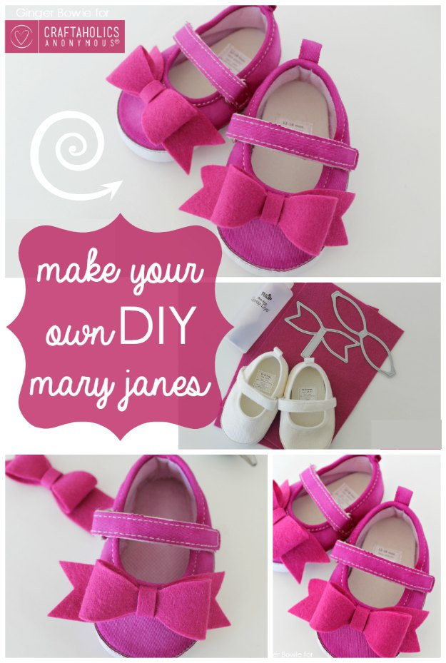 DIY Baby Gifts - How to Make Your Own DIY Mary Janes for Babies - Homemade Baby Shower Presents and Creative, Cheap Gift Ideas for Boys and Girls - Unique Gifts for the Mom and Dad to Be - Blankets, Baskets, Burp Cloths and Easy No Sew Projects #diybaby #babygifts #babyshower