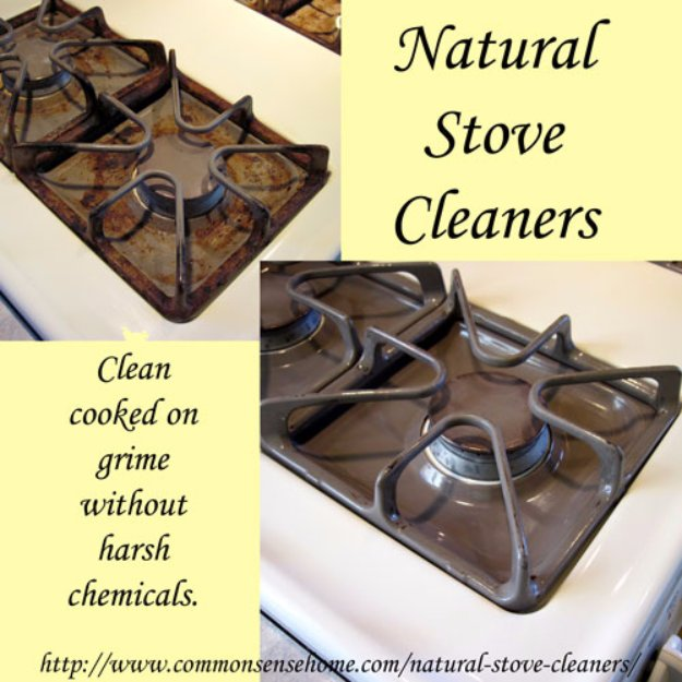 Best Natural Homemade DIY Cleaners and Recipes - Natural Stove Cleaners - All Purposed Home Care and Cleaning with Vinegar, Essential Oils and Other Natural Ingredients For Cleaning Bathroom, Kitchen, Floors, Laundry, Furniture and More
