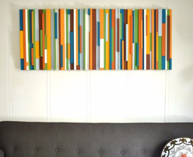 DIY Wall Art Ideas and Do It Yourself Wall Decor for Living Room, Bedroom, Bathroom, Teen Rooms | Painted Wood Wall Art | Cheap Ideas for Those On A Budget. Paint Awesome Hanging Pictures With These Easy Step By Step Tutorial