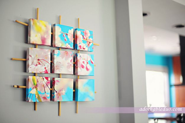 DIY Wall Art Ideas And Do It Yourself Wall Decor For Living Room, Bedroom, Amazing Design