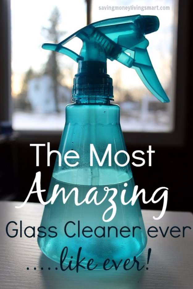 41 best homemade cleaner recipes diy joy for Window cleaner