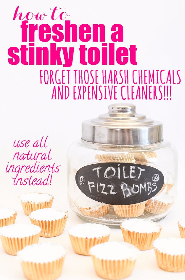 Best Natural Homemade DIY Cleaners and Recipes - Toilet Fizzbombs Homemade Recipe - All Purposed Home Care and Cleaning with Vinegar, Essential Oils and Other Natural Ingredients For Cleaning Bathroom, Kitchen, Floors, Laundry, Furniture and More