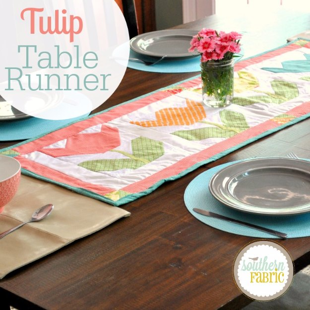 Sewing Projects for The Home - Tulip Table Runner - Free DIY Sewing Patterns, Easy Ideas and Tutorials for Curtains, Upholstery, Napkins, Pillows and Decor #homedecor #diy #sewing