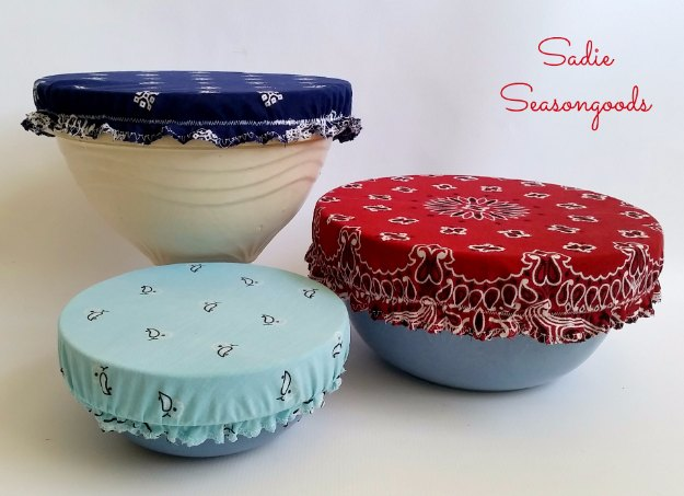 Sewing Projects for The Home -Vintage Bandana Bowl Covers- Free DIY Sewing Patterns, Easy Ideas and Tutorials for Curtains, Upholstery, Napkins, Pillows and Decor #homedecor #diy #sewing