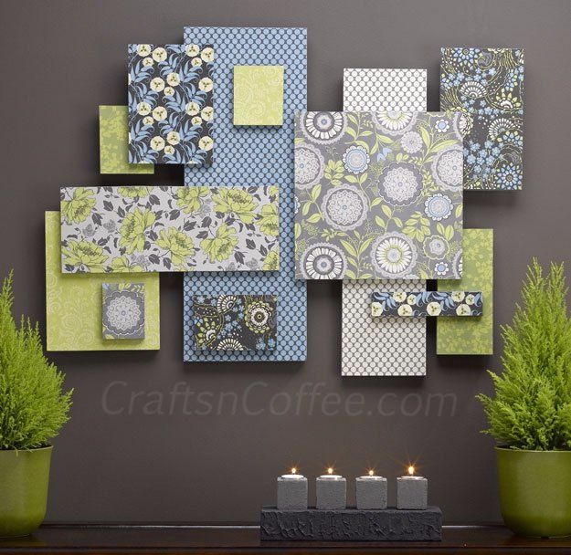 DIY Wall Art Ideas - Creative, Unique DIY Wall Decor for The Home | Wall Art with Fabric and Foam | Cheap Ideas for Those On A Budget. Paint Awesome Hanging Pictures With These Easy Step By Step Tutorial