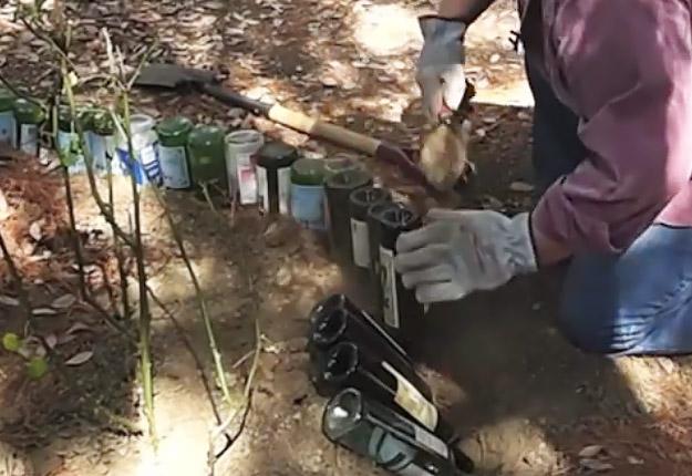 Wine-bottle-edging-for-your-garden-STEP-3