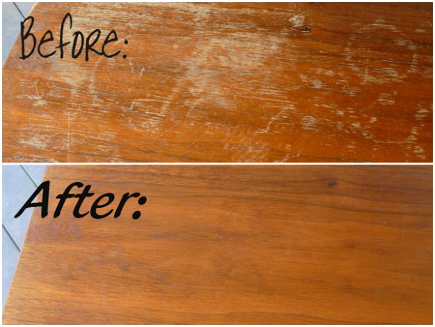 Best Natural Homemade DIY Cleaners and Recipes - Wood Scratches Treatment Recipe - All Purposed Home Care and Cleaning with Vinegar, Essential Oils and Other Natural Ingredients For Cleaning Bathroom, Kitchen, Floors, Laundry, Furniture and More