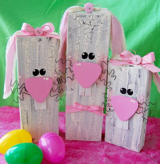 DIY Easter Decorations - Decor Ideas for the Home and Table - Wooden Bunnies - Cute Easter Wreaths, Cheap and Easy Dollar Store Crafts for Kids. Vintage and Rustic Centerpieces and Mantel Decorations.