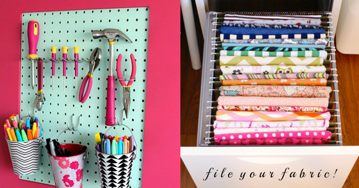 Diy Organization Part - 30: 50 Clever Craft Room Organization Ideas
