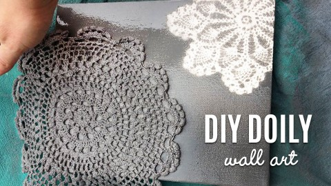 DIY Doily Wall Art | DIY Joy Projects and Crafts Ideas