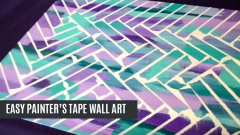 Unbelievably Easy Painters Tape Wall Art - Tape painting