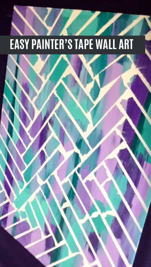 easy-painters-tape-wall-art-pinterest