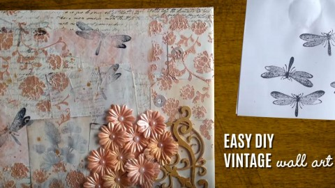 Vintage Wall Art Made Easy U2013 DIY Mixed Media Canvas | DIY Joy Projects And  Crafts