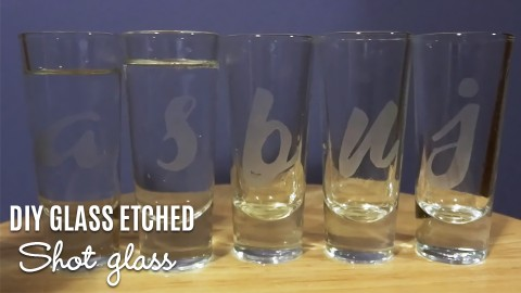 DIY Glass Etched Shot Glasses | DIY Joy Projects and Crafts Ideas