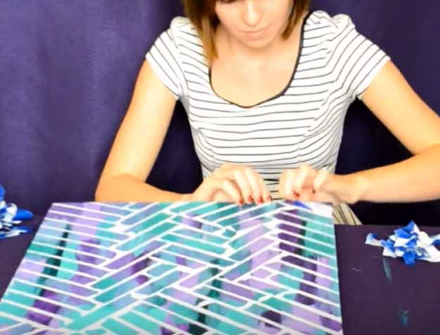 L Painters Tape Off Diy Wall Art Tutorial