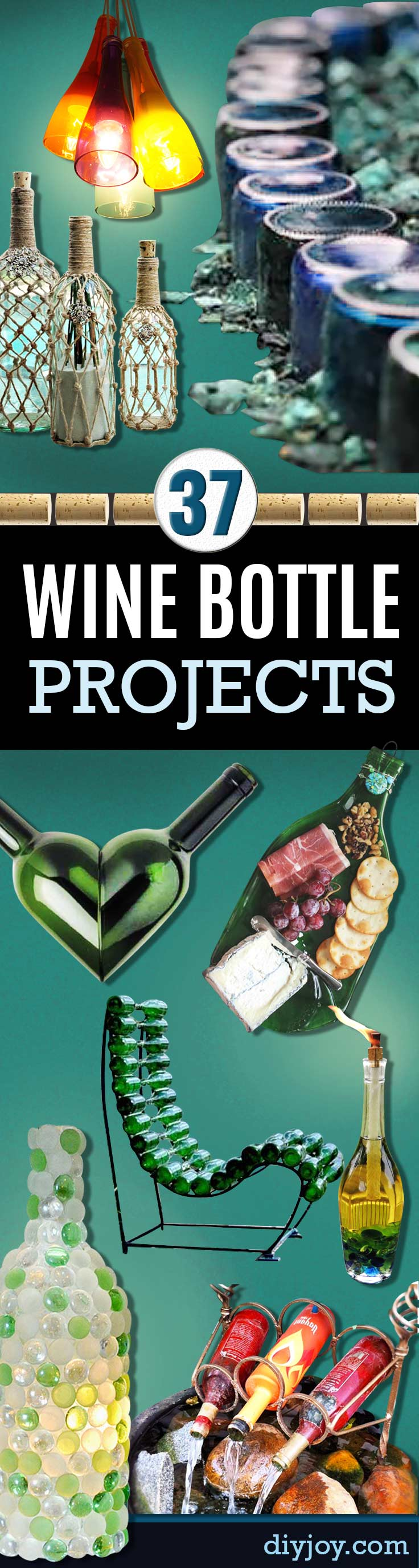 37 Wine Bottle Crafts - DIY Projects for Homemade Christmas Gifts - Craft Ideas With Wine Bottles - Chair, Walkway, Cheap DIY Home Decor