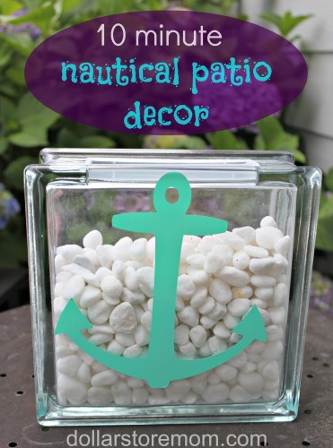 DIY Porch and Patio Ideas - 10 Minute Decor Nautical Patio Vase - Decor Projects and Furniture Tutorials You Can Build for the Outdoors -Swings, Bench, Cushions, Chairs, Daybeds and Pallet Signs