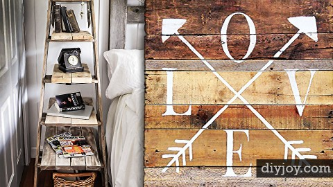 40 Rustic DIY Ideas for the Bedroom | DIY Joy Projects and Crafts Ideas