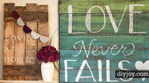 40 DIY Pallet Signs With Step by Step How To | DIY Joy Projects and Crafts Ideas