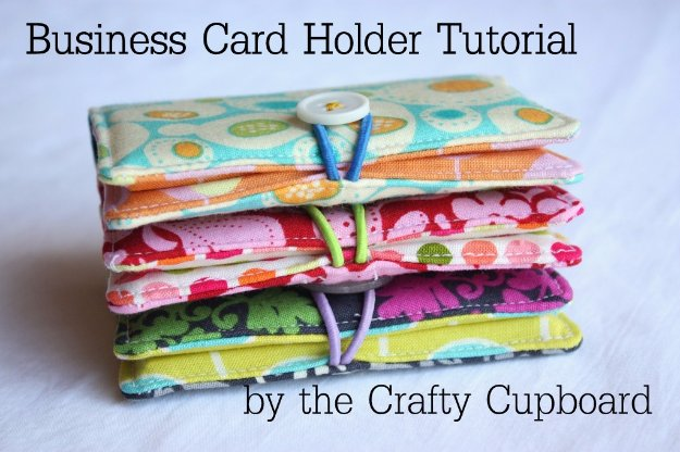 DIY Sewing Gift Ideas for Adults and Kids, Teens, Women, Men and Baby - Business Card Holder - Cute and Easy DIY Sewing Projects Make Awesome Presents for Mom, Dad, Husband, Boyfriend, Children #sewing #diygifts #sewingprojects