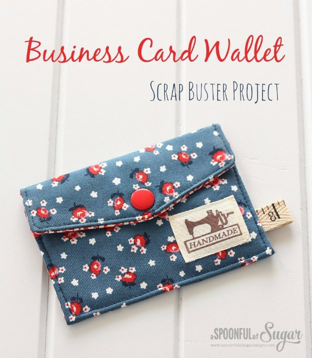 Easy Sewing Projects to Sell - Business Card Wallet - DIY Sewing Ideas for Your Craft Business. Make Money with these Simple Gift Ideas, Free Patterns #sewing #crafts