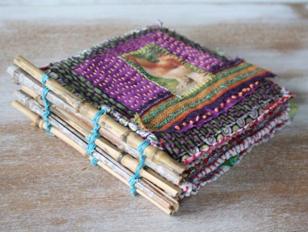 Cool Crafts You Can Make With Fabric Scraps - Chicken Coop Fabric Journal Book - Creative DIY Sewing Projects and Things to Do With Leftover Fabric Scrap Crafts #sewing #fabric #crafts