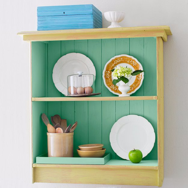DIY Chalk Paint Furniture Ideas With Step By Step Tutorials - Color Inside Out Cabinet - How To Make Distressed Furniture for Creative Home Decor Projects on A Budget - Perfect for Vintage Kitchen, Dining Room, Bedroom, Bath #diyideas #diyfurniture