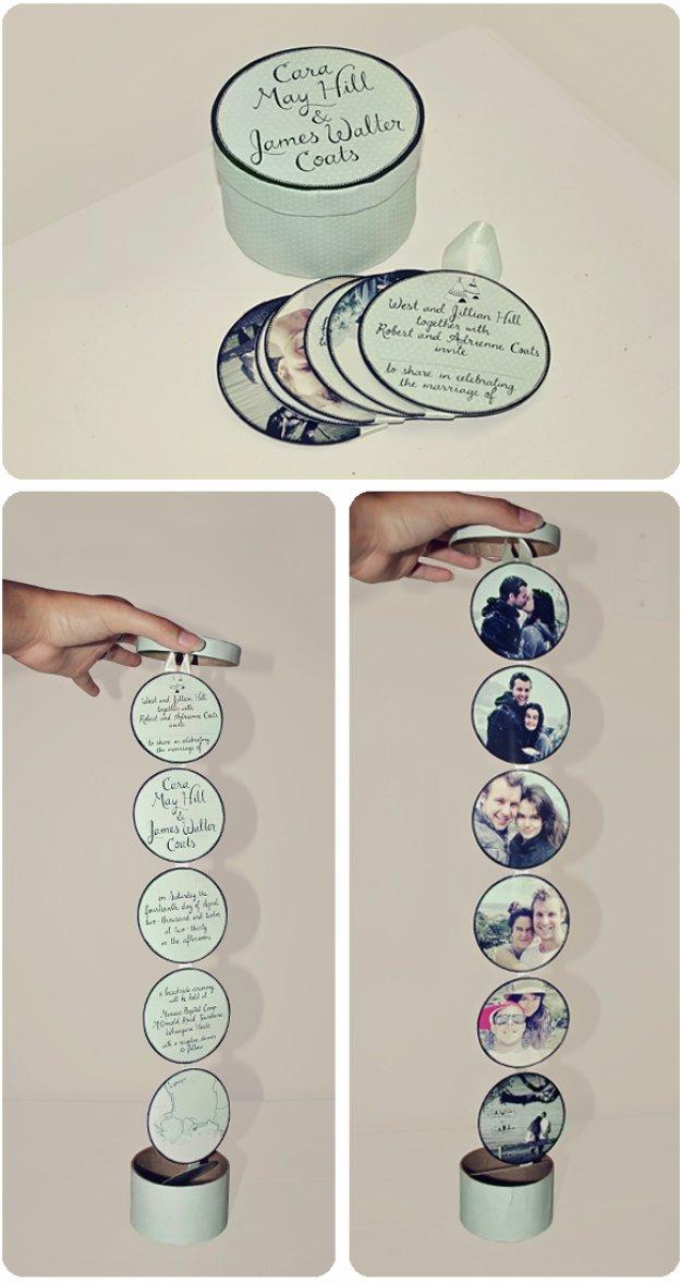 DIY Wedding Invitiations - Creative Circle Chain Wedding Invitation - Templates, Free Printables and Wording   Tutorials for Unique, Rustic, Elegant and Vintage Homemade Invites #weddinginvitations #diyweddings