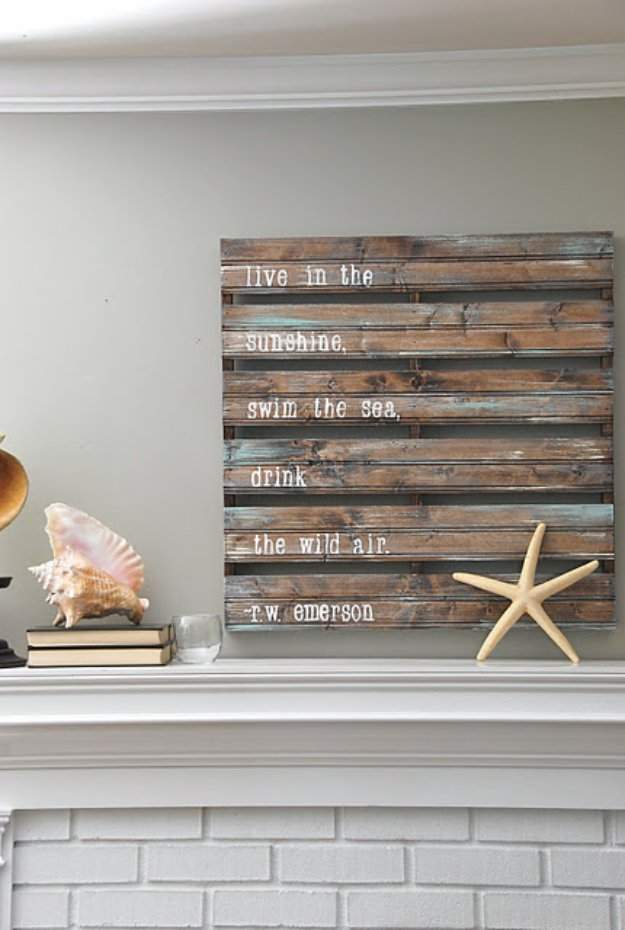 DIY Pallet sign Ideas - DIY Acrylic Pallet Sign - Upcycled Pallet Art Cool Homemade Wall Art Ideas and Pallet Signs for Bedroom, Living Room, Patio and Porch. Creative Rustic Decor Ideas on A Budget