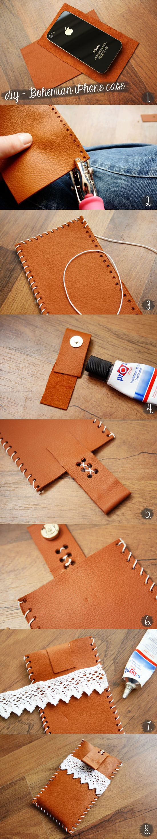 DIY Sewing Gift Ideas for Adults and Kids, Teens, Women, Men and Baby - DIY Bohemian Style iPhone Case - Cute and Easy DIY Sewing Projects Make Awesome Presents for Mom, Dad, Husband, Boyfriend, Children