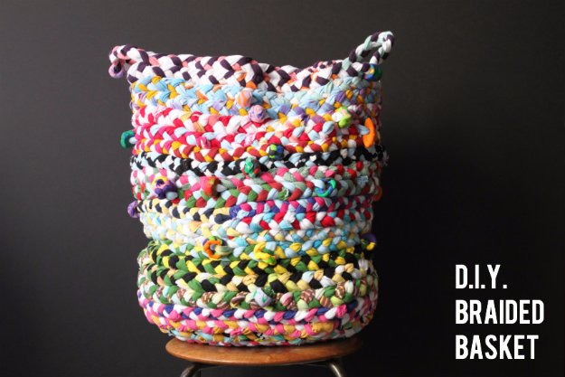 DIY Home Decor Ideas Made With Fabric Scraps - DIY Braided Basket - Creative DIY Sewing Projects and Things to Do With Leftover Fabric Scrap Crafts #sewing #fabric #crafts