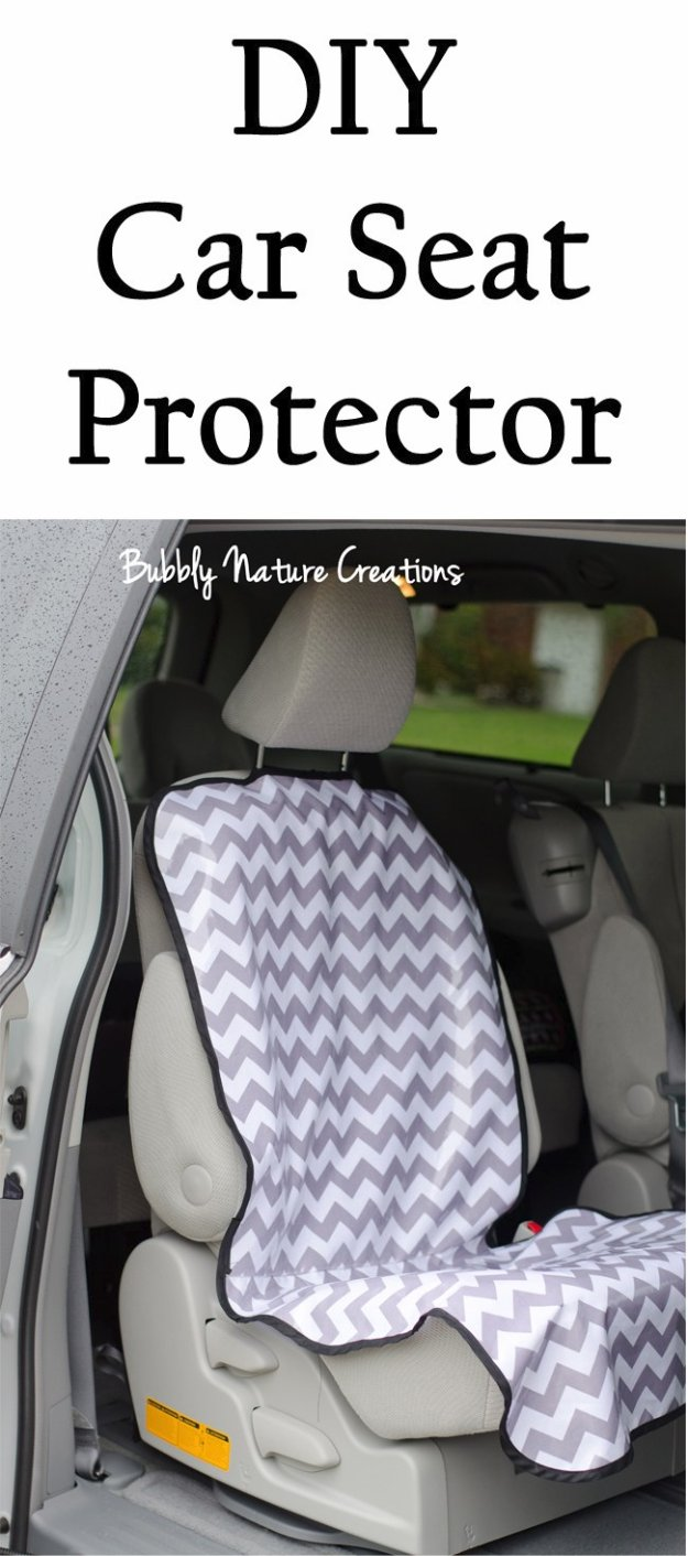 DIY Sewing Gift Ideas for Adults and Kids, Teens, Women, Men and Baby - DIY Car Seat Protector - Cute and Easy DIY Sewing Projects Make Awesome Presents for Mom, Dad, Husband, Boyfriend, Children #sewing #diygifts #sewingprojects