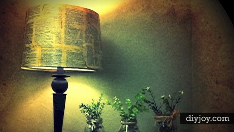 Awesome DIY Decoupage Lamp Shade   DIY Joy Projects and Crafts Ideas