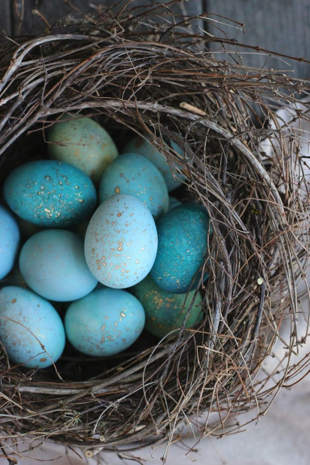 Easter Egg Decorating Ideas - DIY Dyed Robin Eggs - Creative Egg Dye Tutorials and Tips - DIY Easter Egg Projects for Kids and Adults