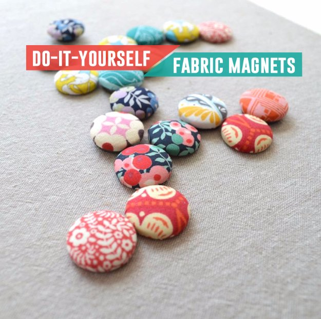 Cool Crafts You Can Make With Fabric Scraps - DIY Fabric Scrap Magnet - Creative DIY Sewing Projects and Things to Do With Leftover Fabric Scrap Crafts #sewing #fabric #crafts