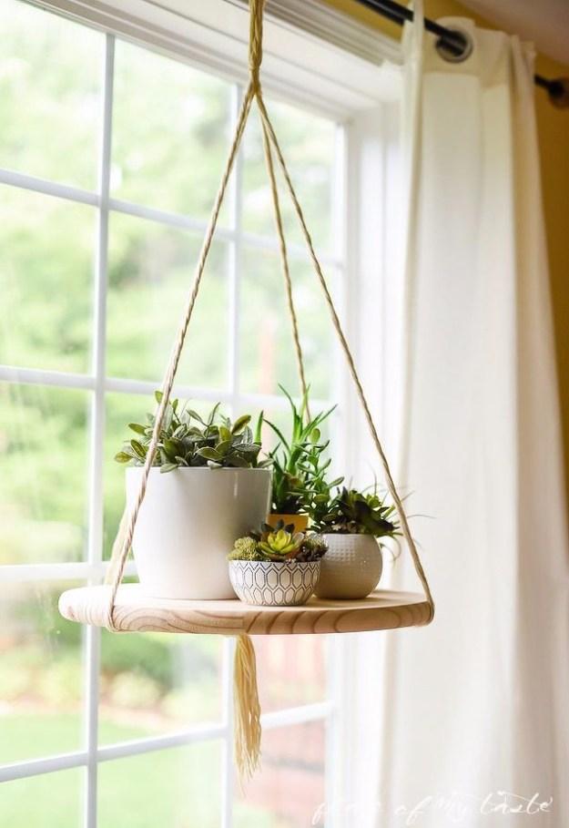 Succulents Crafts and DIY Projects - DIY Floating Succulent Shelf - How To Make Fun, Beautiful and Cool Succulent Cactus Wedding Favors, Centerpieces, Mason Jar Ideas, Flower Pots and Decor http://diyjoy.com/diy-ideas-succulents-crafts