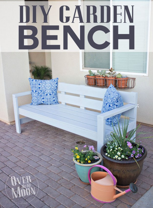 DIY Porch and Patio Ideas - DIY Front Porch Bench - Decor Projects and Furniture Tutorials You Can Build for the Outdoors -Swings, Bench, Cushions, Chairs, Daybeds and Pallet Signs