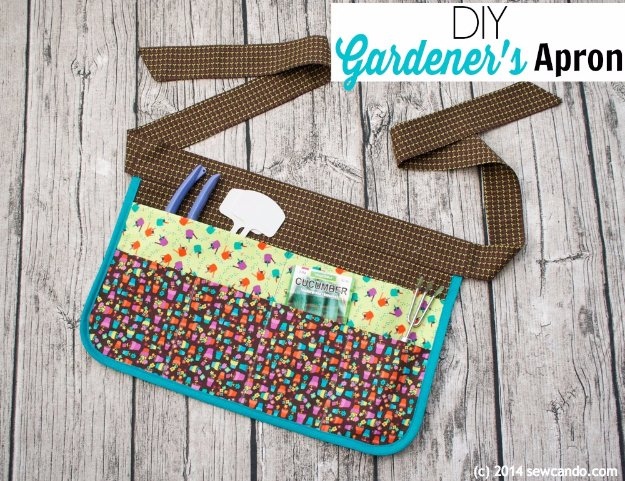 DIY Sewing Gift Ideas for Adults and Kids, Teens, Women, Men and Baby - DIY Gardener's Apron - Cute and Easy DIY Sewing Projects Make Awesome Presents for Mom, Dad, Husband, Boyfriend, Children #sewing #diygifts #sewingprojects