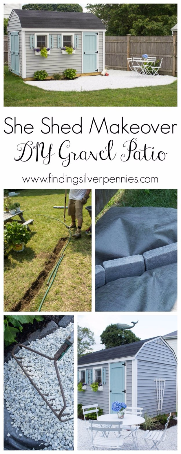 DIY Porch and Patio Ideas - DIY Gravel Patio - Decor Projects and Furniture Tutorials You Can Build for the Outdoors -Swings, Bench, Cushions, Chairs, Daybeds and Pallet Signs
