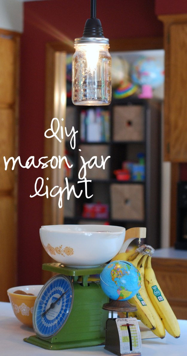 Mason Jar Lights - DIY Mason Jar Pendant Light - DIY Ideas with Mason Jars for Outdoor, Kitchen, Bathroom, Bedroom and Home, Wedding. How to Make Hanging Lanterns, Rustic Chandeliers and Pendants, Solar Lights for Outside