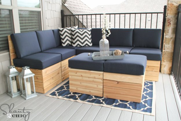 DIY Porch and Patio Ideas - DIY Outdoor Modular Seat Tutorial - Decor Projects and Furniture Tutorials You Can Build for the Outdoors -Swings, Bench, Cushions, Chairs, Daybeds and Pallet Signs