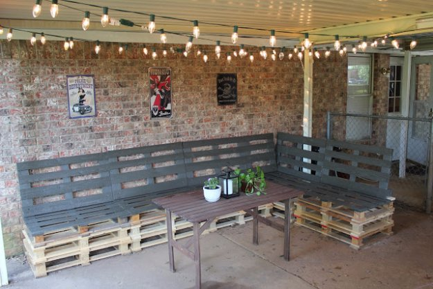 DIY Pallet Furniture Ideas - DIY Outdoor Patio Furniture from Pallets - Best Do It Yourself Projects Made With Wooden Pallets - Indoor and Outdoor, Bedroom, Living Room, Patio. Coffee Table, Couch, Dining Tables, Shelves, Racks and Benches