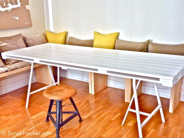 DIY Pallet Furniture Ideas - DIY Pallet Dining Table - Best Do It Yourself Projects Made With Wooden Pallets - Indoor and Outdoor, Bedroom, Living Room, Patio. Coffee Table, Couch, Dining Tables, Shelves, Racks and Benches