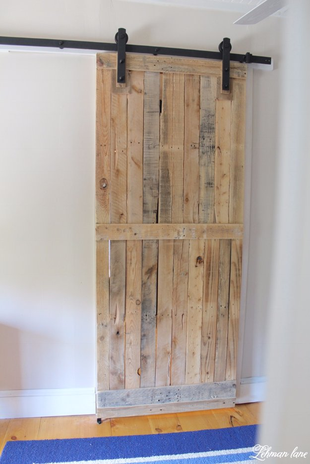 DIY Pallet Furniture Ideas - DIY Pallet Sliding Barn Door - Best Do It Yourself Projects Made With Wooden Pallets - Indoor and Outdoor, Bedroom, Living Room, Patio. Coffee Table, Couch, Dining Tables, Shelves, Racks and Benches