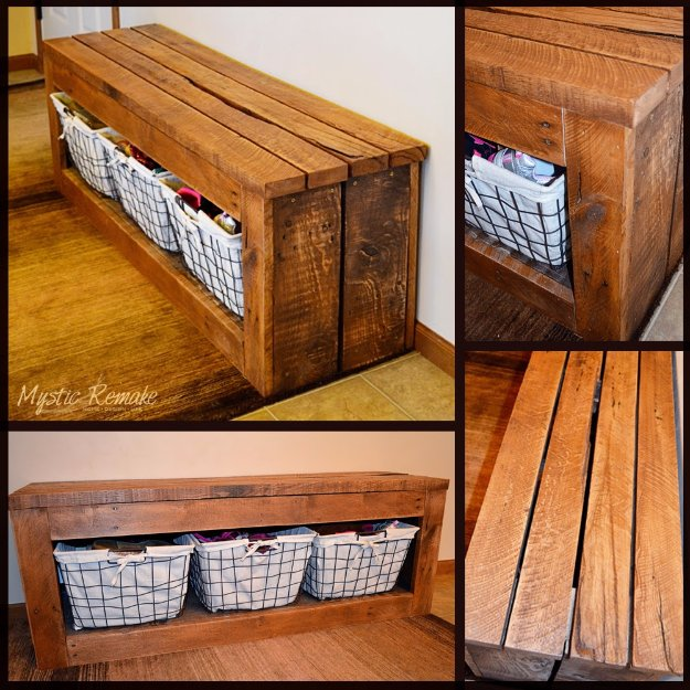 DIY Pallet Furniture Ideas - DIY Pallet Storage Bench - Best Do It Yourself Projects Made With Wooden Pallets - Indoor and Outdoor, Bedroom, Living Room, Patio. Coffee Table, Couch, Dining Tables, Shelves, Racks and Benches
