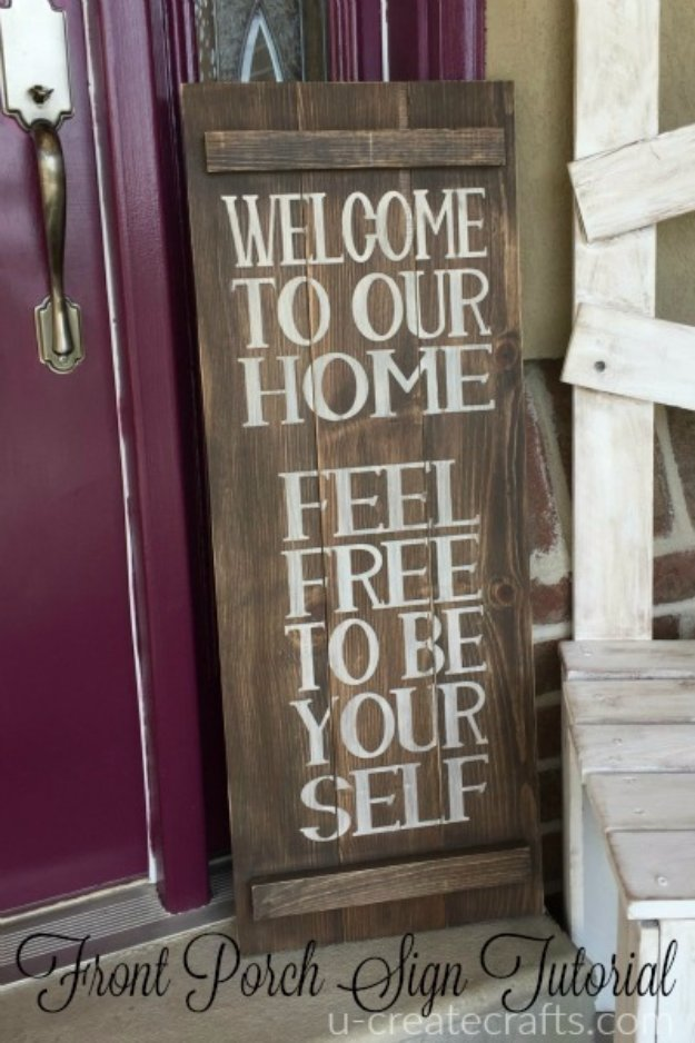 DIY Pallet sign Ideas - DIY Pallet Welcome Sign - Upcycled Pallet Art Cool Homemade Wall Art Ideas and Pallet Signs for Bedroom, Living Room, Patio and Porch. Creative Rustic Decor Ideas on A Budget