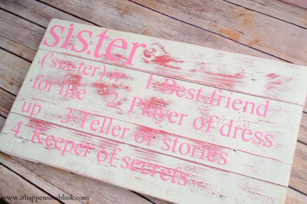 DIY Pallet sign Ideas -DIY Sibling Sign Sister or Brother- Upcycled Pallet Art Cool Homemade Wall Art Ideas and Pallet Signs for Bedroom, Living Room, Patio and Porch. Creative Rustic Decor Ideas on A Budget